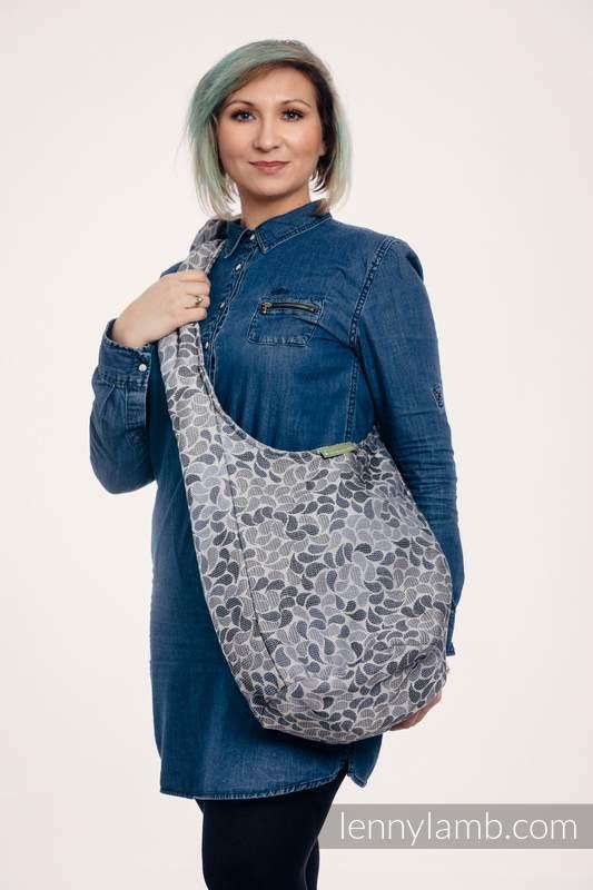 Torba Hobo z materiału chustowego, (100% bawełna) - KOLORY TAJEMNICY #babywearing