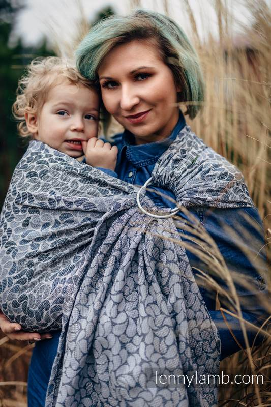 Ringsling, Jacquard Weave (100% cotton) - with gathered shoulder - COLORS OF MYSTERY - long 2.1m #babywearing