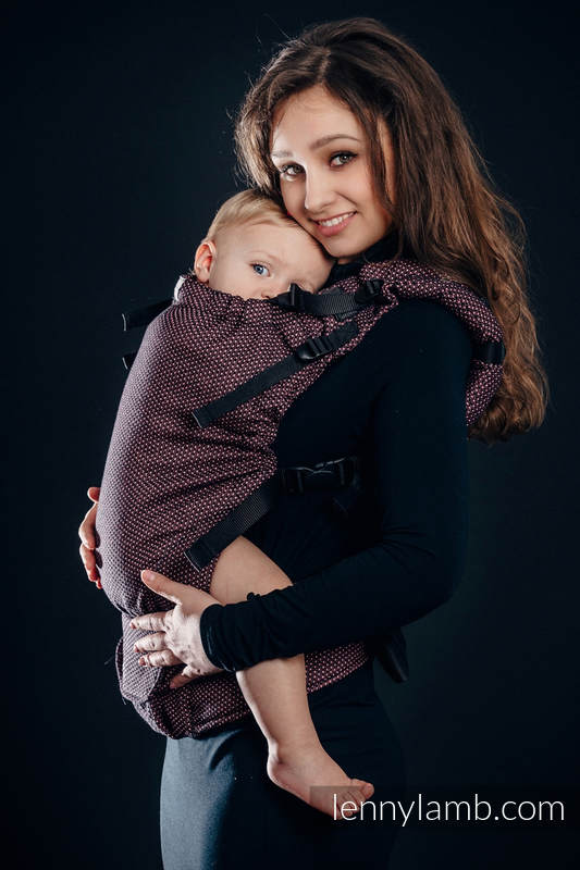 LennyUp Carrier, Standard Size, pearl weave, 60% cotton, 28% linen 12% tussah silk - wrap conversion from LITTLE PEARL - VARIETE #babywearing