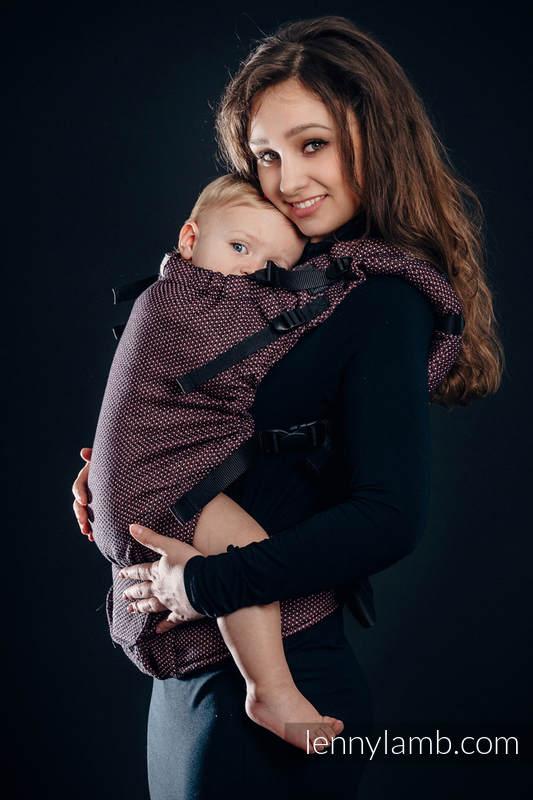 Nosidełko LennyUp, splot perłowy, 60% Bawełna 28% Len 12% Jedwab Tussah , rozmiar standard, MAŁA PERŁA - VARIETE #babywearing