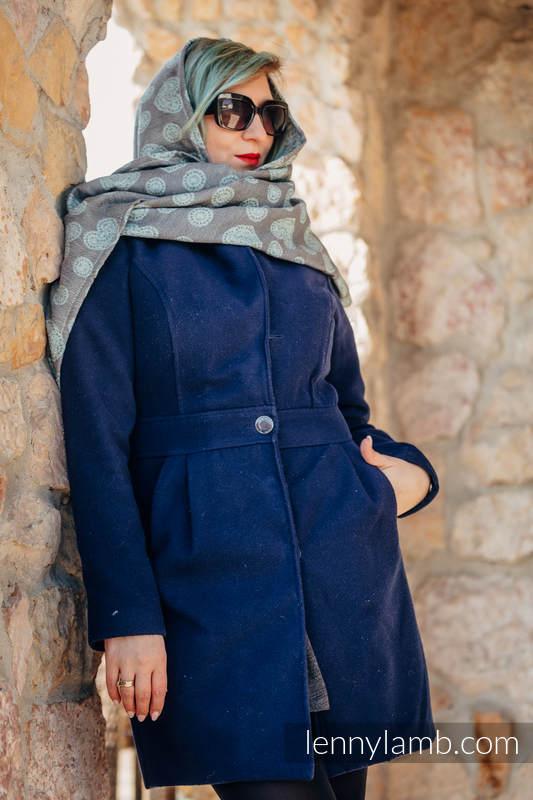 LennyScarf - 58 % Seide, 42% Baumwolle, - Lace Grau & Minze-Farbe #babywearing