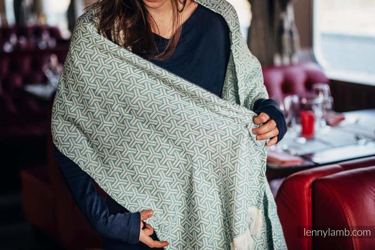 LennyScarf - 46% cotton, 31 % silk, 23 % bamboo viscose - Trinity Cream & Mint #babywearing
