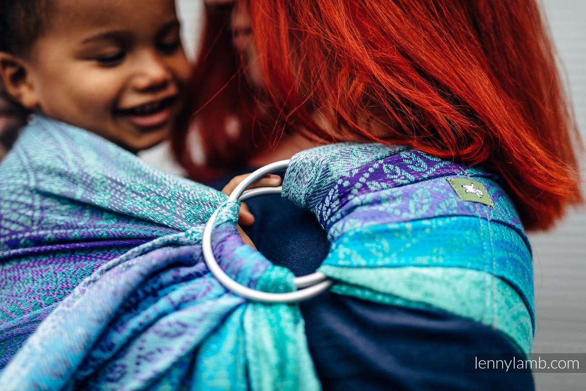 RingSling, Jacquardwebung (100% Baumwolle) - PEACOCK'S TAIL - FANTASY #babywearing