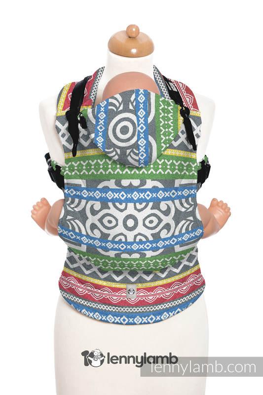 Nosidełko Ergonomiczne z tkaniny żakardowej 100% bawełna , Baby Size, POSITIVE VIBES- Druga Generacja #babywearing
