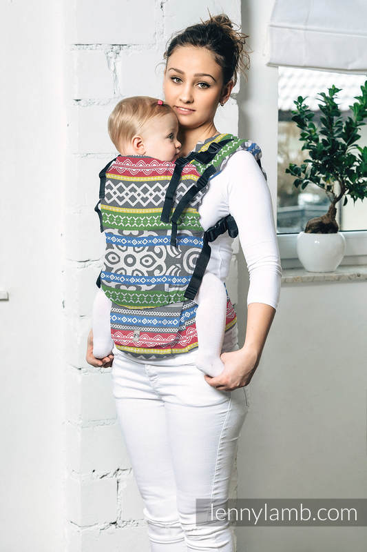 LennyUp Carrier, Standard Size, jacquard weave 100% cotton - wrap conversion from POSITIVE VIBES #babywearing