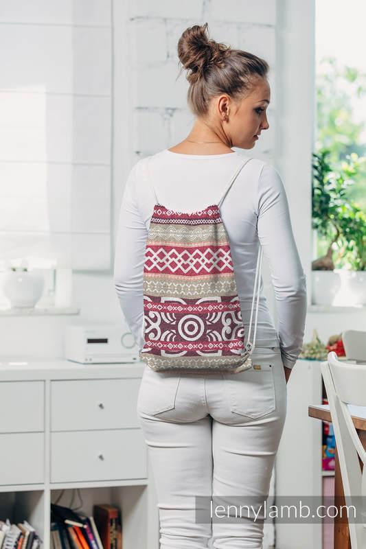Plecak/worek - 100% bawełna - GOOD VIBES - uniwersalny rozmiar 32cmx43cm #babywearing