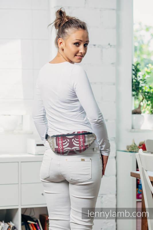 Saszetka z tkaniny chustowej, (100% bawełna) - GOOD VIBES #babywearing