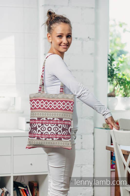 einkaufstasche hergestellt aus gewebtem stoff 100 baumwolle good vibes. Black Bedroom Furniture Sets. Home Design Ideas