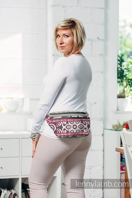 Saszetka z tkaniny chustowej, rozmiar large (100% bawełna) - GOOD VIBES #babywearing