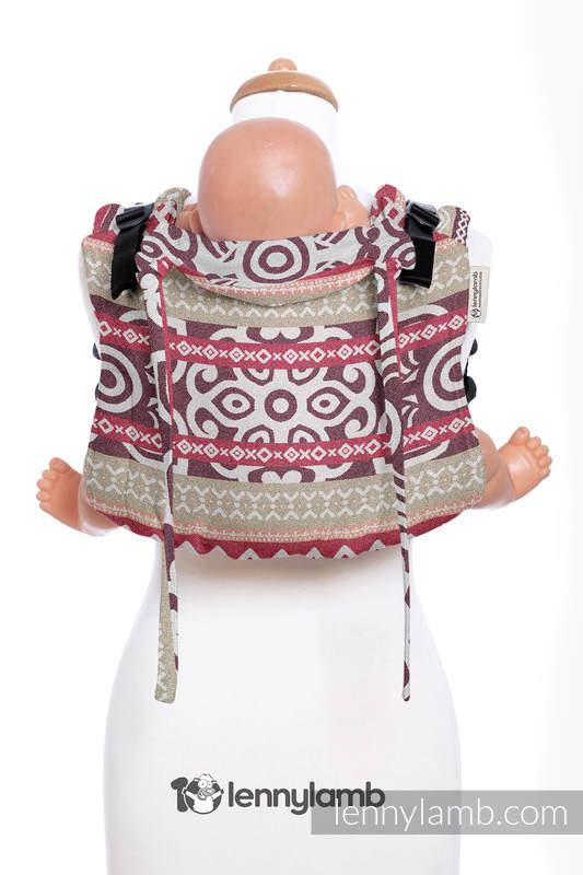 Nosidło Klamrowe ONBUHIMO z tkaniny żakardowej (100% bawełna), rozmiar Toddler - GOOD VIBES #babywearing
