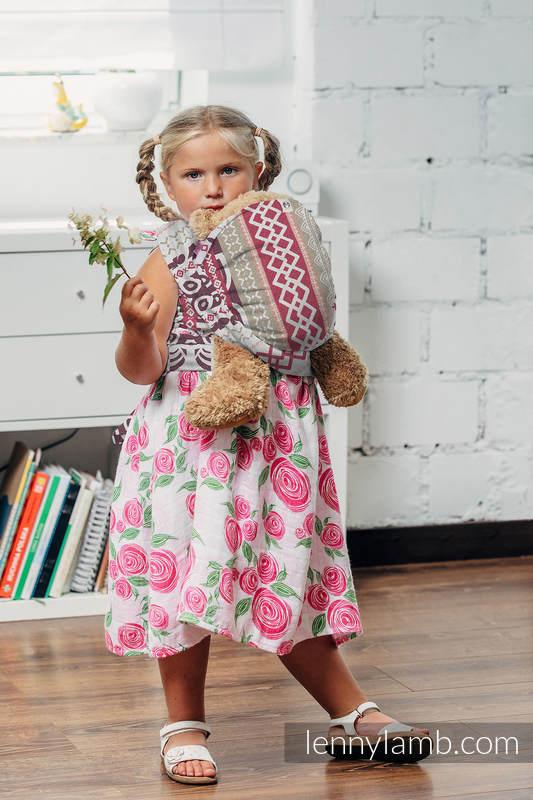 Żakardowa chusta dla lalek, 100% bawełna - GOOD VIBES #babywearing