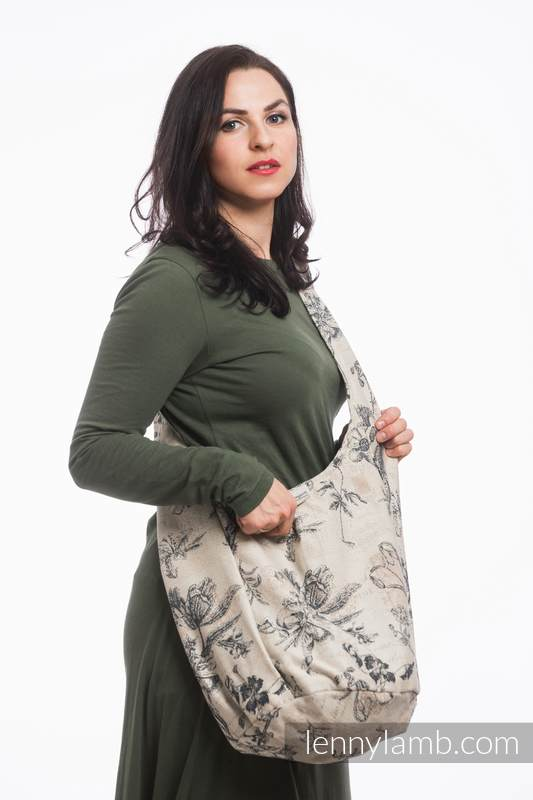 Hobo Bag made of woven fabric, 100% cotton - HERBARIUM #babywearing