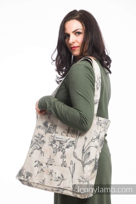 Shoulder bag made of wrap fabric (100% cotton) - HERBARIUM - standard size 37cmx37cm #babywearing