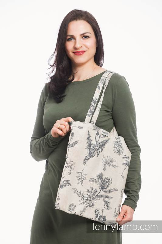 Shopping bag made of wrap fabric (100% cotton) - HERBARIUM #babywearing