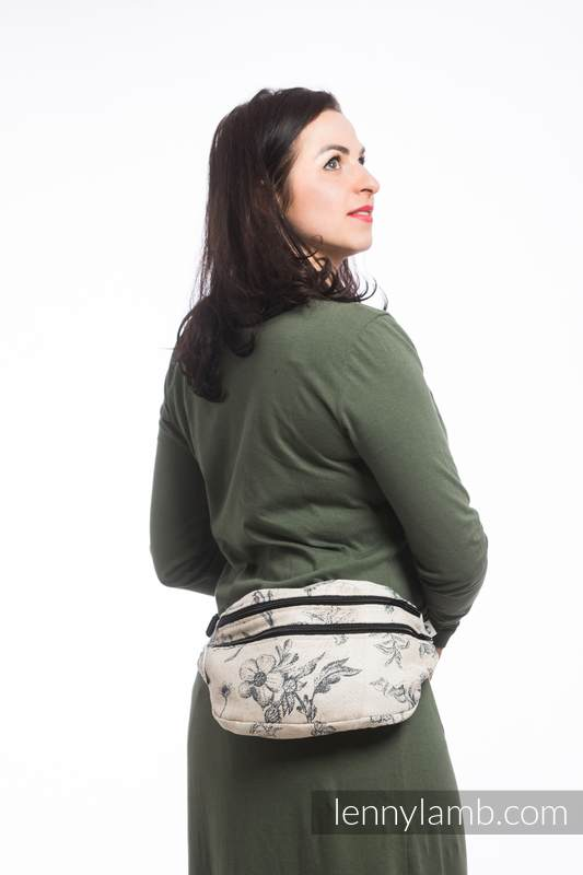 Waist Bag made of woven fabric, size large (100% cotton) - HERBARIUM #babywearing