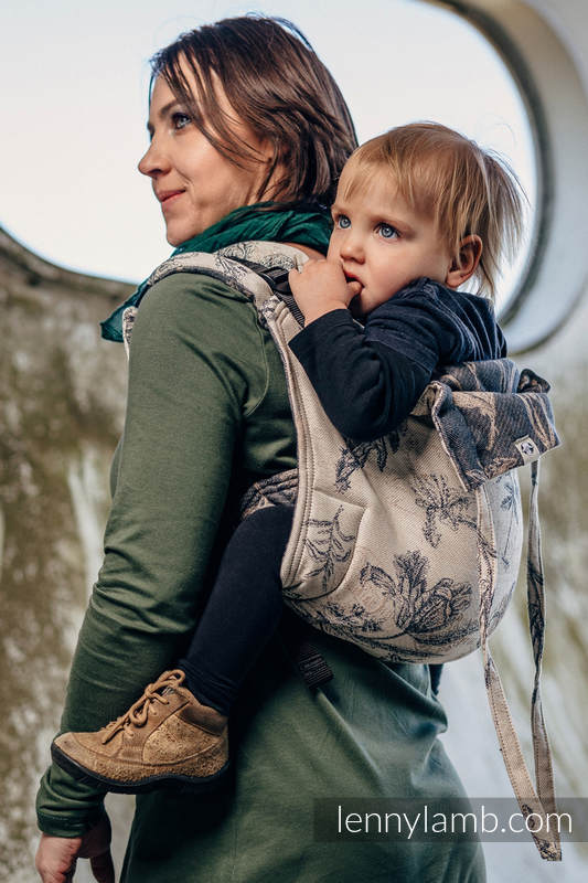 Lenny Buckle Onbuhimo, standard size, jacquard weave (100% cotton) - Wrap conversion from HERBARIUM #babywearing