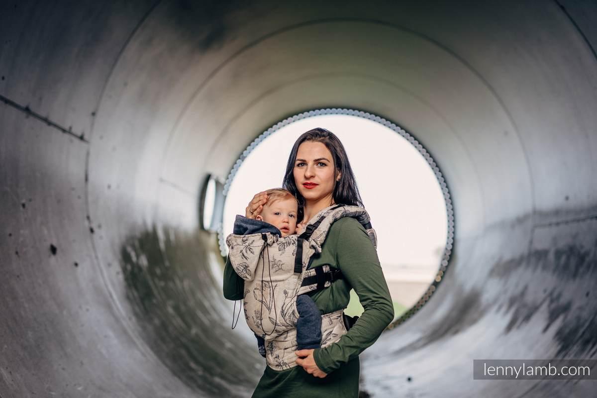 Ergonomic Carrier, Toddler Size, jacquard weave 100% cotton - HERBARIUM - Second Generation #babywearing