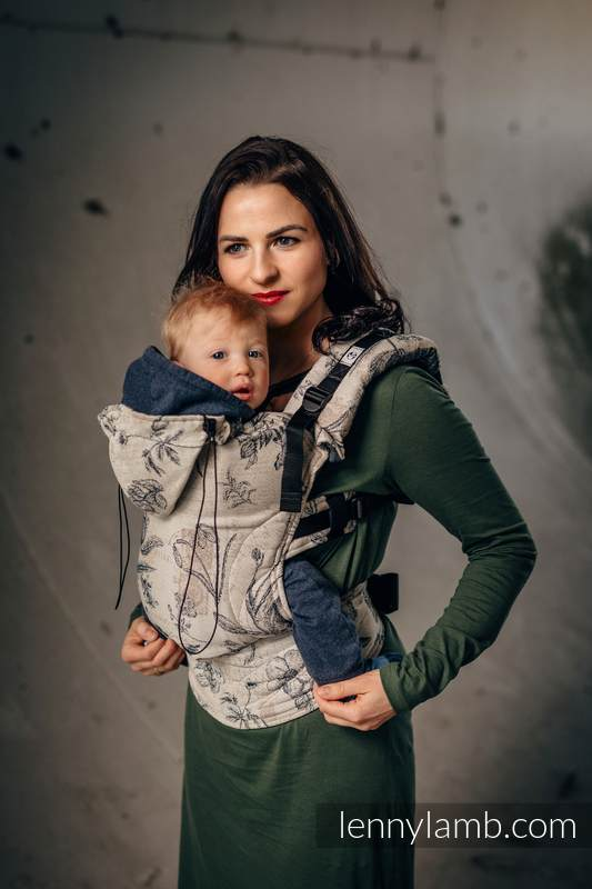 Ergonomic Carrier, Baby Size, jacquard weave 100% cotton - HERBARIUM - Second Generation #babywearing