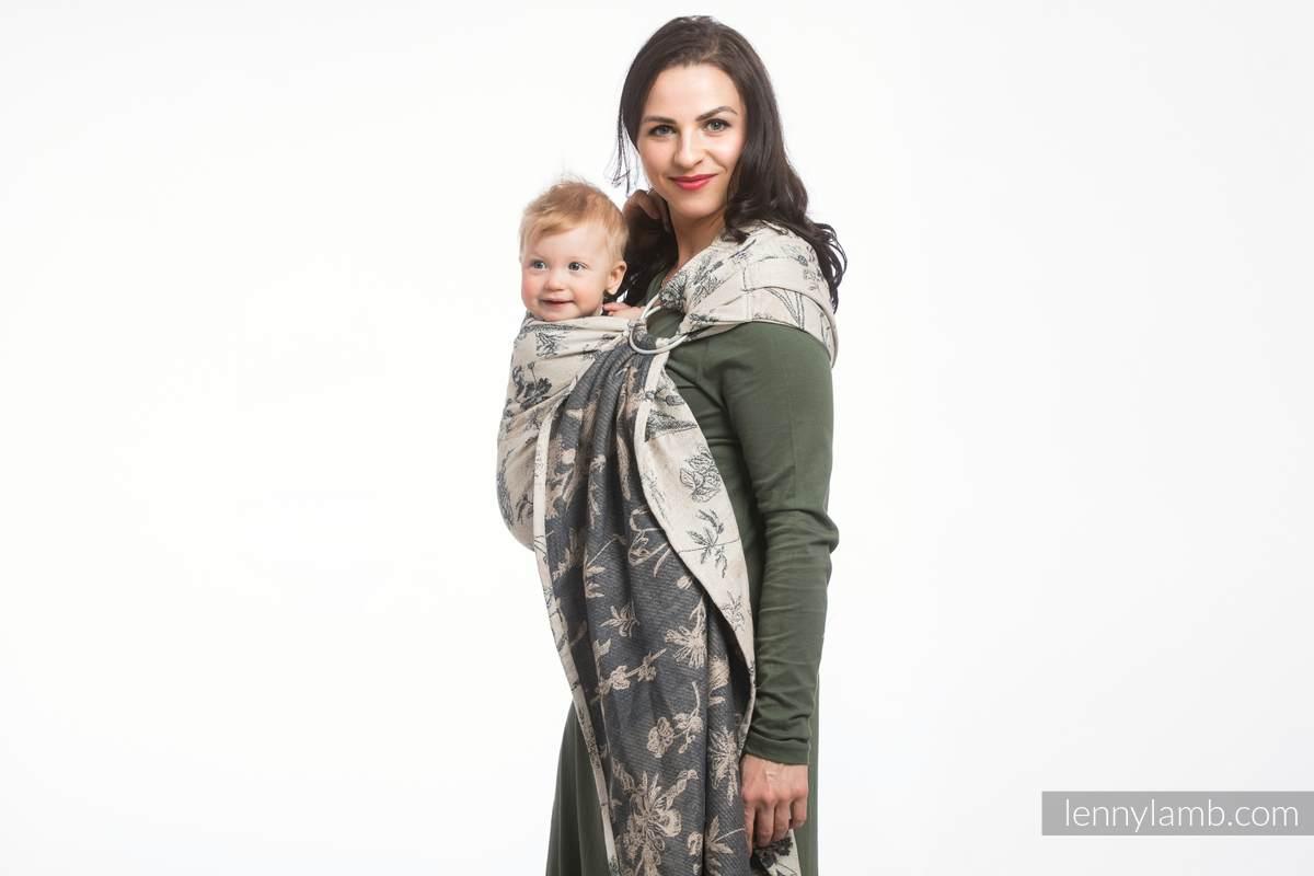 Ringsling, Jacquard Weave (100% cotton) - HERBARIUM - long 2.1m #babywearing