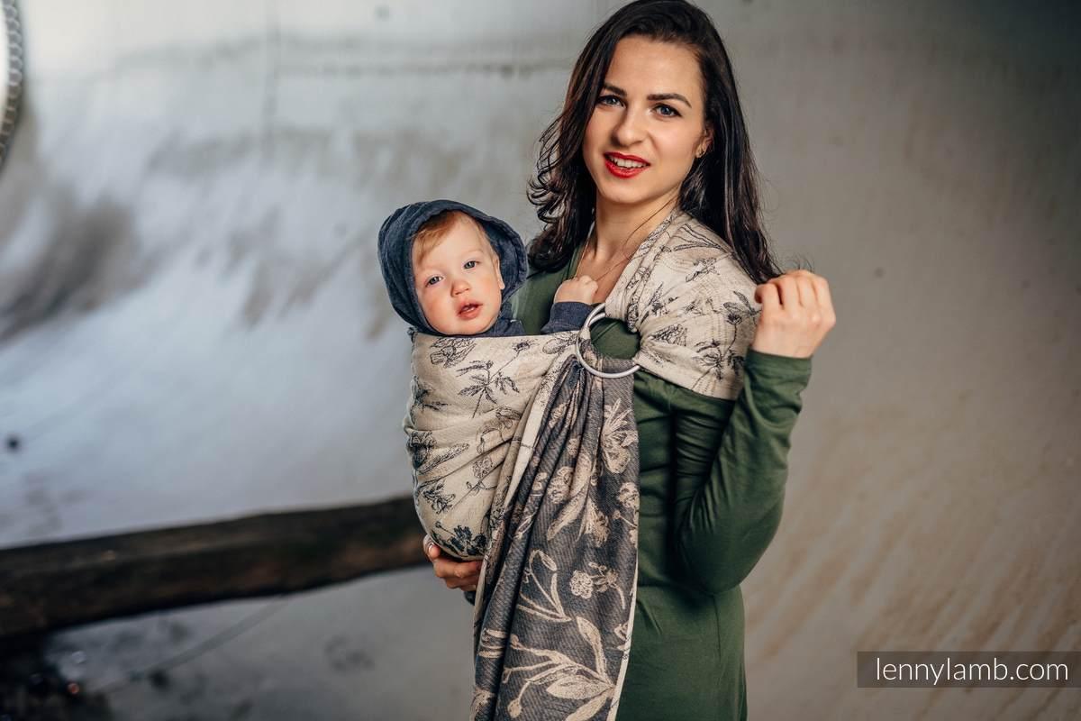 Ringsling, Jacquard Weave (100% cotton) - with gathered shoulder - HERBARIUM #babywearing