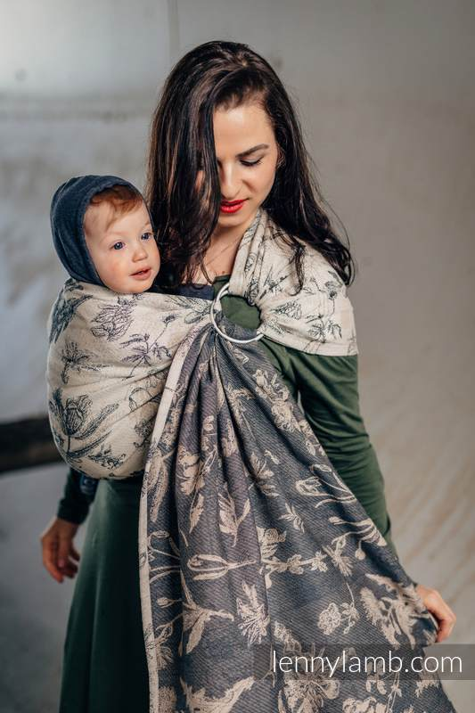 Ringsling, Jacquard Weave (100% cotton) - with gathered shoulder - HERBARIUM #babywearing