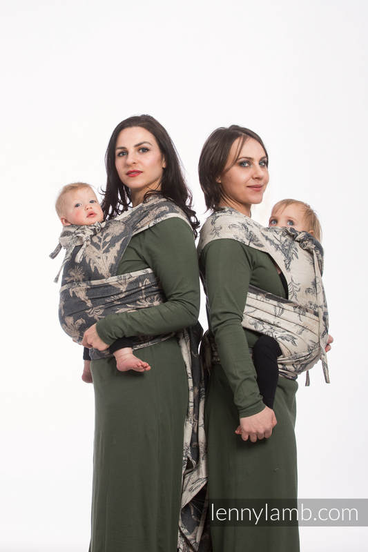 WRAP-TAI carrier Mini with hood/ jacquard twill / 100% cotton / HERBARIUM #babywearing