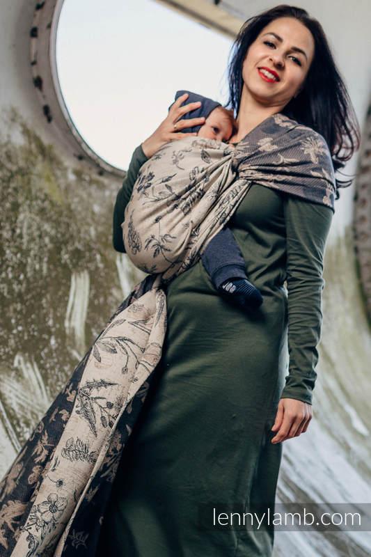 Baby Wrap, Jacquard Weave (100% cotton) - HERBARIUM - size XS #babywearing