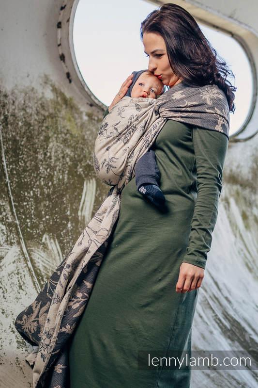 Baby Wrap, Jacquard Weave (100% cotton) - HERBARIUM - size S #babywearing