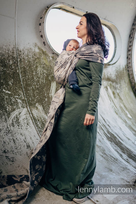 Baby Wrap, Jacquard Weave (100% cotton) - HERBARIUM - size L #babywearing