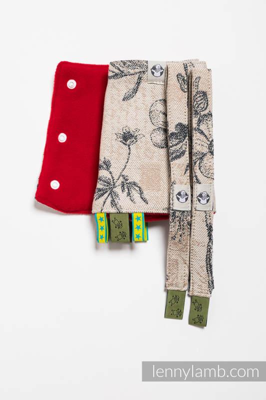 Drool Pads & Reach Straps Set, (60% cotton, 40% polyester) - HERBARIUM #babywearing