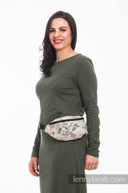 Waist Bag made of woven fabric, (100% cotton) - HERBARIUM #babywearing