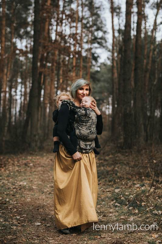 LennyUp Carrier, Standard Size, jacquard weave, 65% cotton 35% silk - QUEEN OF THE NIGHT - PAMINA #babywearing