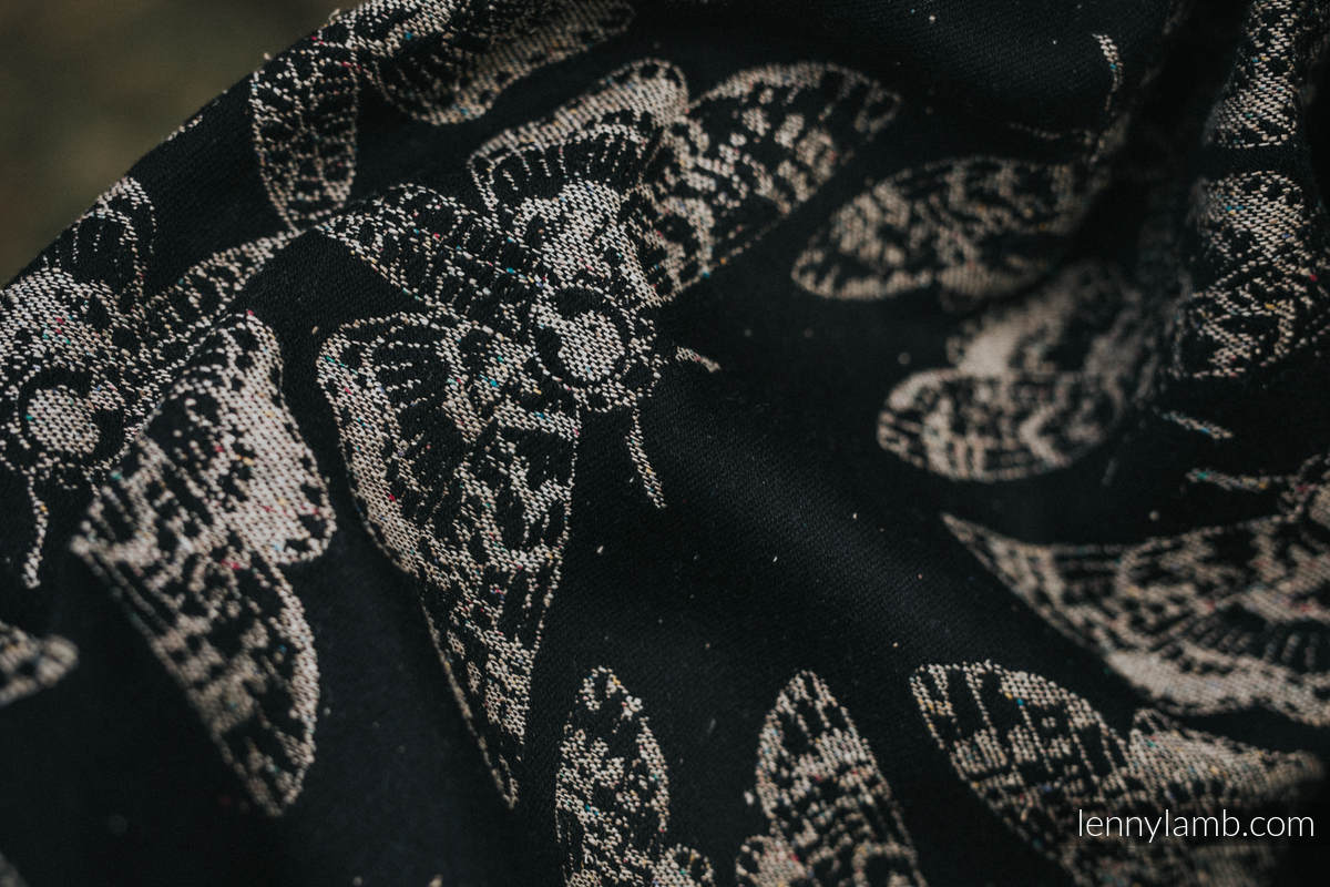 Baby Wrap, Jacquard Weave (65% cotton 35% silk) - QUEEN OF THE NIGHT - PAMINA - size XL #babywearing