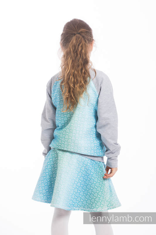 LennyBomber - size 116 - Big Love - Ice Mint & Grey #babywearing