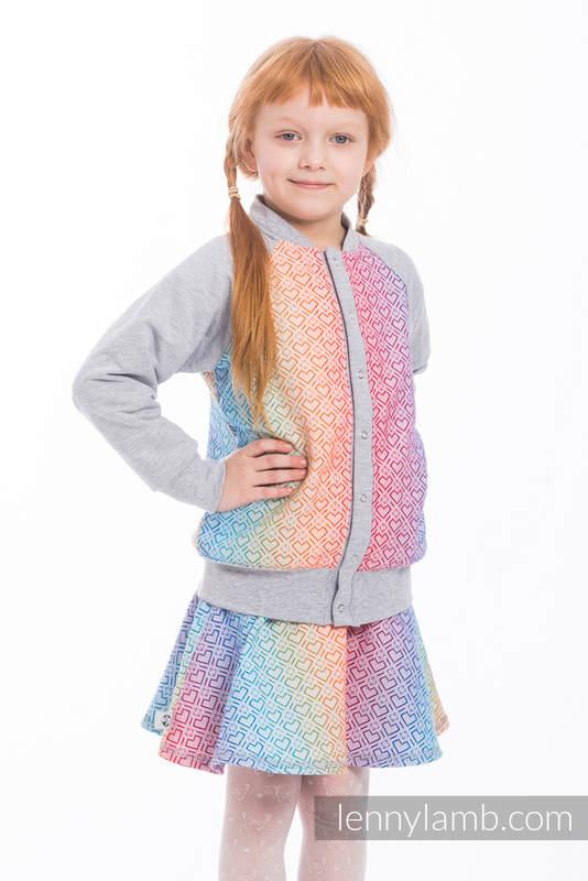LennyBomber - Größe 134 - Big Love - Rainbow mit Grau #babywearing