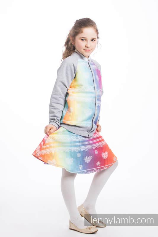 LennyBomber - Größe 140 - Rainbow Lace mit Grau #babywearing