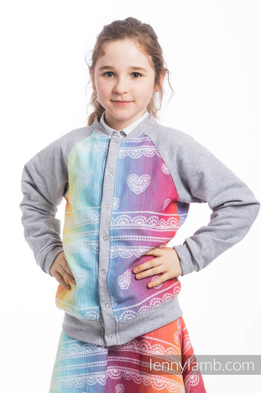 LennyBomber - Größe 110 - Rainbow Lace mit Grau #babywearing