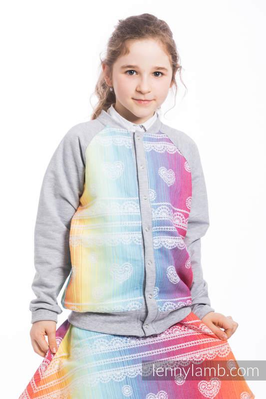 LennyBomber - Größe 116 - Rainbow Lace mit Grau #babywearing