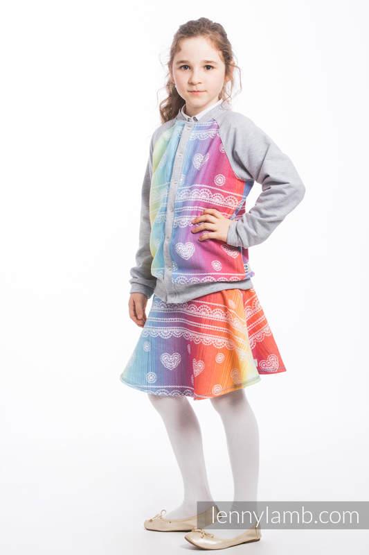LennyBomber - size 104 - Rainbow Lace & Grey  #babywearing