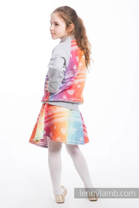 LennyBomber - Größe 122 - Rainbow Lace mit Grau #babywearing