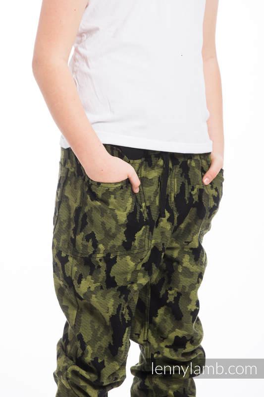 LennyJogger - rozmiar 134 - Zielone Moro #babywearing
