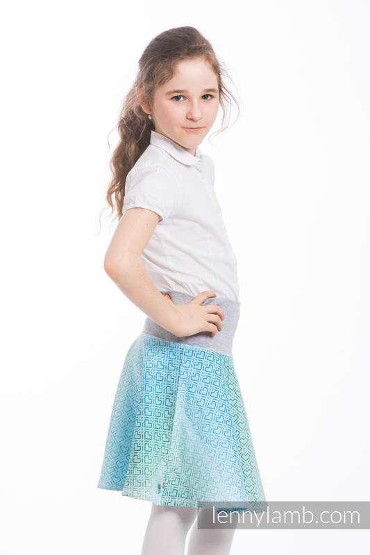 LennySkirt - size 134 - Big Love - Ice Mint & Grey #babywearing