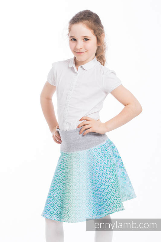 LennySkirt - size 146 - Big Love - Ice Mint & Grey #babywearing