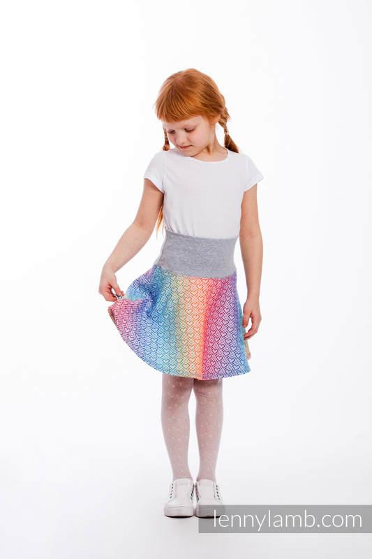 LennySkirt - size 104 - Big Love - Rainbow & Grey #babywearing
