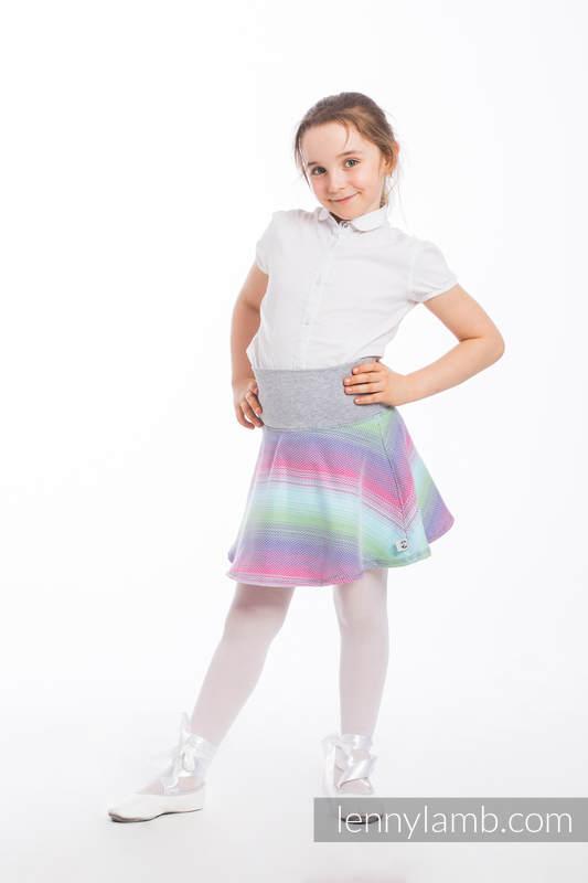 LennySkirt - Größe 116 - Little Herringbone Impression mit Grey #babywearing