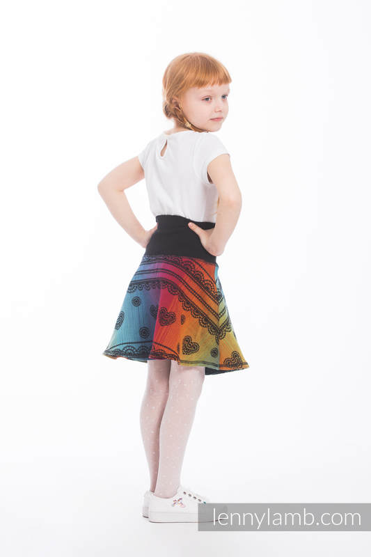 LennySkirt - size 122 - Rainbow Lace Dark #babywearing