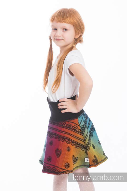 LennySkirt - talla 128 - Rainbow Lace Dark  #babywearing