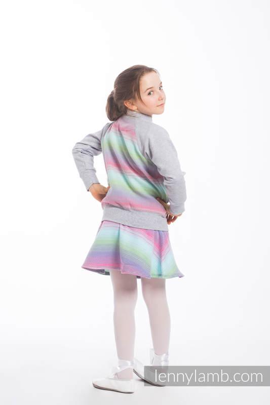 LennyBomber - Größe 116 - Little Herringbone Impression mit Grau #babywearing