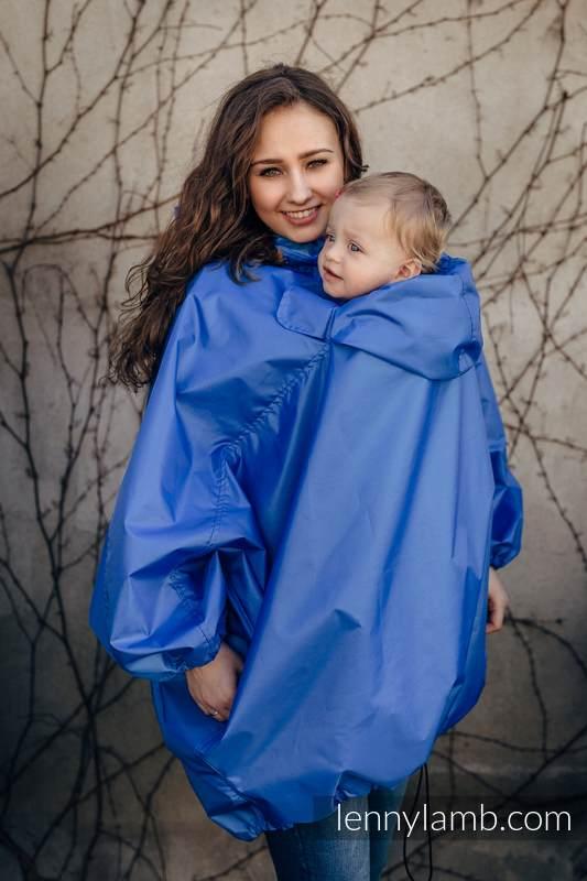Regenmantel für Babytragen - Größe S/M - Blau (grad B) #babywearing
