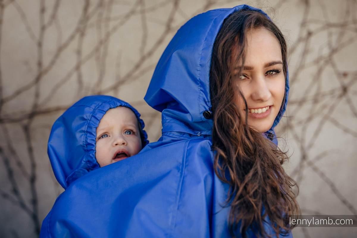 Regenmantel für Babytragen - Größe 2XL/3XL - Blau (grad B) #babywearing
